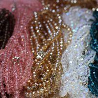 汽车水晶挂链 雪花风铃挂饰彩色玻璃水晶珠子 高品质挂件链批发