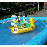 山东青岛PVC充气水池儿童喜欢玩的水上手摇船价格