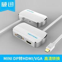 批发迷你mini DP转HDMI VGA转换器电脑笔记本mac转接线转换头