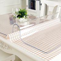 台布餐桌布百搭粉色写字桌圆桌西餐厅家庭西餐透明桌垫会议茶几