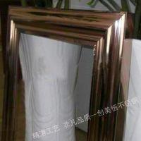 会所镜面钛金不锈钢相框,墙面古铜装饰相框