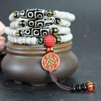 顺白藏式星月菩提子手串108颗高密正月干磨文玩佛珠手串项链男女