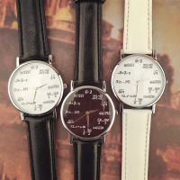 外贸热卖 数学公式 数学根号手表 学生情侣手表欧美流行皮带手表