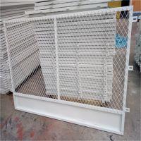 喷漆钢板网片 仓库货架用压平钢板网 菱型冲压拉伸网