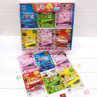 韩版迷你订书机套装学生订书器可爱图案办公用品儿童卡通装订机