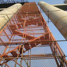 建筑安全爬梯厂家 基坑安全爬梯 箱式梯笼 桥梁安全爬梯 通达机械