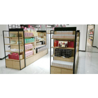 定制电商展示柜 板式服装柜 超市鞋柜 包包陈列柜 茶叶展示架