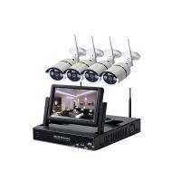 三创鑫工厂直销特价九安方案H.264无线监控系统带屏硬盘录像机红外高清网络摄像机监控套装 硬盘录像机