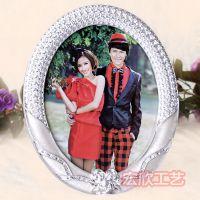 玫瑰椭圆相框 婚纱照摆台 礼物照片框影楼批发相架hx017