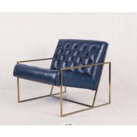 简约风格客厅真皮休闲椅(Thin frame lounge chair)