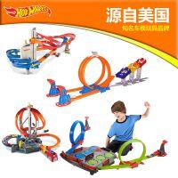 风火轮火辣小跑车轨道儿童电动合金套装极限跳跃赛道男孩赛车玩具