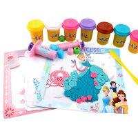 迪士尼儿童橡皮泥创意绘画套装小麦泥无毒彩泥模具工具孩子玩具