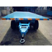7吨沙地充气胎平板拖车