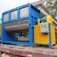 供应珠海硅胶粉体搅拌机 2吨大型卧式塑料颗粒片材料混料机