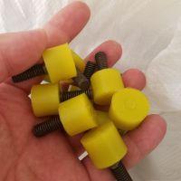 聚氨酯五金包胶件 橡胶减震螺丝 聚氨酯包螺丝配件