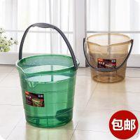 加厚塑料耐摔大号透明手提桶家用洗衣桶洗车清洁收纳水桶手提水桶