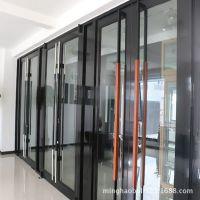 安装12mm钢化玻璃门 办公室安装玻璃门 酒店门前玻璃装修定制