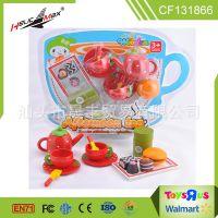 儿童益智仿真木制下午茶玩具草莓巧克力蛋糕甜品幼儿园过家家玩具