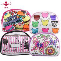 南韩儿童钱包女孩可爱零钱包diy填色手绘涂鸦钥匙包手工包化妆包