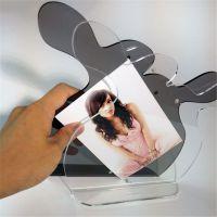 亚克力透明10寸LED相框 有机玻璃相框  有机玻璃LED展示相框