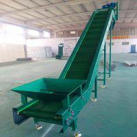 爬坡挡边输送机专业生产 草捆输送机