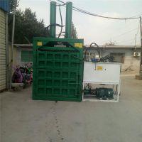 方便存储饲料打包机 立式液压打包机 干湿牧草青贮套袋打块机富兴
