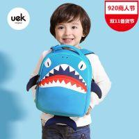 UEK新款3D鲨鱼男女宝宝儿童背包幼儿园书包韩版小孩双肩包3-5岁