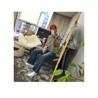 卡拉贝斯品牌折扣加盟店女装折扣女装 童装羽绒服尾货批发紫色牛仔裤