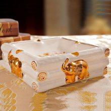 泰国复古陶瓷烟灰缸 创意个性手工烟缸 父亲节礼物大号烟盅