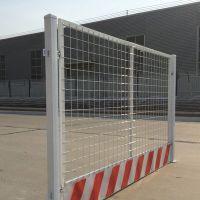 陕西西安工地红白基坑护栏网1.2*1.8m现货批发 楼盘施工井口电梯门