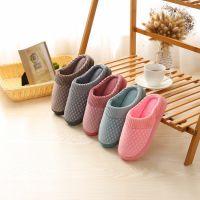 直销新款棉拖约情侣居家地板拖鞋简洁家用软底拖鞋家居室内棉拖鞋