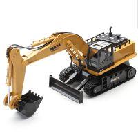 汇纳 11通合金挖土机 无线遥控挖掘机 儿童电动玩具车 工程车