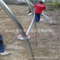 专业生产 农业大棚骨架 热镀锌钢管规格齐全 专业设计连体棚钢架