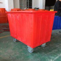 【华社】四川甘孜塑料方桶带轮子 PE聚乙烯方箱厂家批发