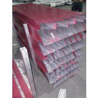 红色铝方通装饰吊顶 型材方管墙面板 木纹色方通  厂家直销