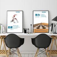 公司办公室装饰画励志标语企业文化墙挂画定制会议室墙宣传标语