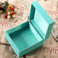 高档翻盖首饰盒戒指项链礼品盒节日小礼品包装纸盒