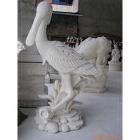 供应汉白玉石雕、动物雕塑,仙鹤雕塑