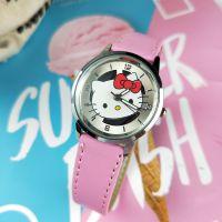 外贸Hello Kitty凯蒂猫手表哆啦A梦比卡丘米奇搂空皮革手表