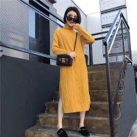 韩佳人18冬季日韩爆款全均码针织连衣裙分份走份尾货