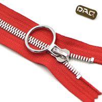 DAQ大器拉链:8号双点牙鞋用拉链 高端皮具皮靴门襟拉锁 闭尾双拉金属拉链定制