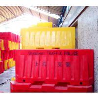 上海交警滚塑水马防撞桶规格尺寸 交警大队安全防撞栏水马围档生产工厂