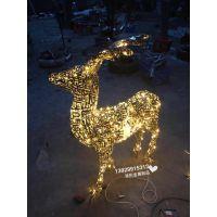 售楼部水景不锈钢雕塑 可发光不锈钢镂空小鹿雕塑