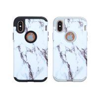 新款iPhonex 8 plus双重手机保护套 水贴大理石三合一超强防摔壳