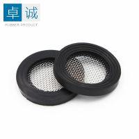 304过滤网橡胶垫片4分6分带过不锈钢滤网硅橡胶垫片密封垫圈厂家