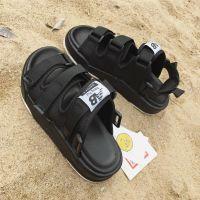 拖鞋两穿凉鞋女夏平底沙滩休闲沙滩鞋两用外穿中学生胖mm男生度假