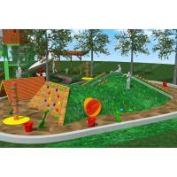幼儿园户外滑梯 木质塑料组合滑梯 钻洞土堡滑梯 公园景区游乐设施 无动力游乐设备厂家直销定做
