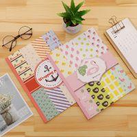 广州青盛 韩国创意文具火烈鸟包装纸可爱卡通学生书皮书套礼品包