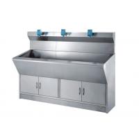 HR-C10医院优质不锈钢洗手池手术室三人位自动感应刷手池可定制