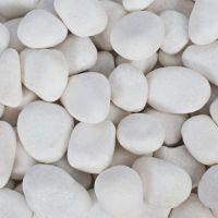 白色机制未抛光鹅卵石,白云石矿直接加工而成,白度好,价格优越,铺路鱼缸园林过滤用